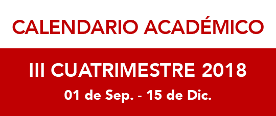 Calendario Universidad De Panama 2018.Calendario Academico Iii Cuatrimestre 2018 Universidad